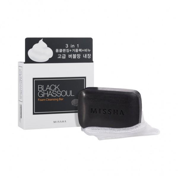 MISSHA Black Ghassoul Foam Cleansing Bar