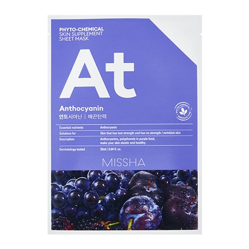MISSHA Phytochemical Skin Supplement Sheet Mask (Anthocyanin/Lifting)