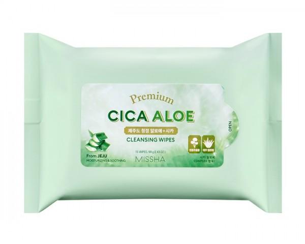 MISSHA Premium Cica Aloe Cleansing Wipes