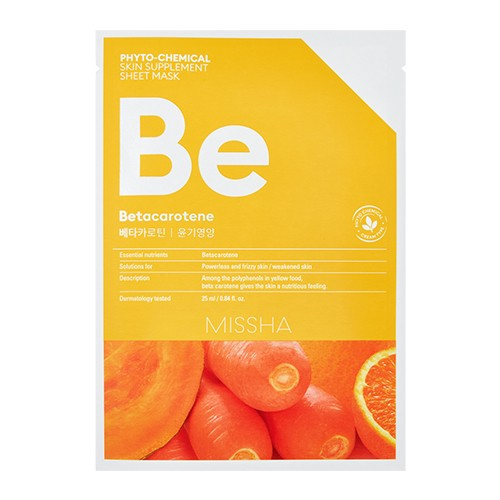 MISSHA Phytochemical Skin Supplement Sheet Mask (Betacarotene/Nourishing)
