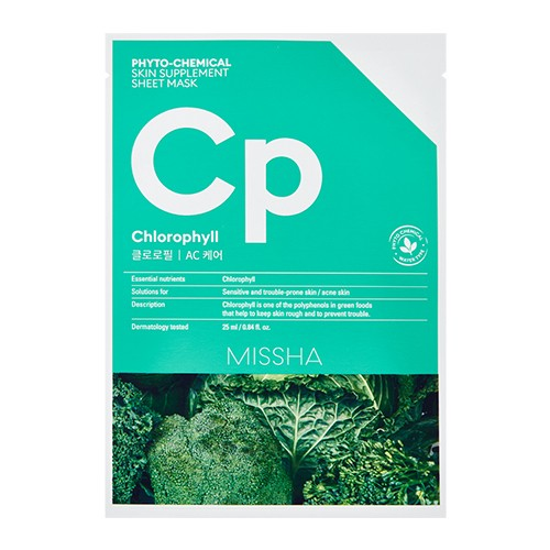 MISSHA Phytochemical Skin Supplement Sheet Mask (Chlorophyll/AC Care)