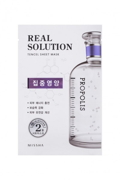 MISSHA Real Solution Tencel Sheet Mask (Vitalizing) PROPOLIS