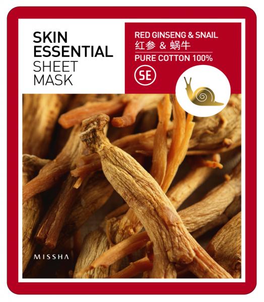 MISSHA Skin Essential Sheet Mask (Ginseng&Snail)